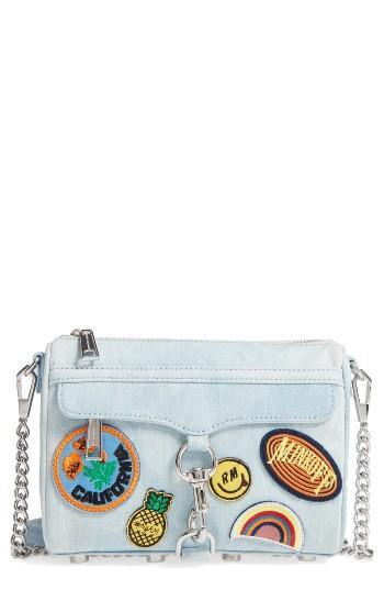 Rebecca Minkoff Mini Mac - Patchwork Denim Crossbody Bag -