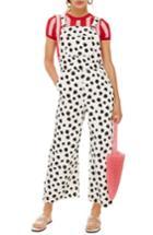 Women's Topshop Spot Print Overalls Us (fits Like 0) - White
