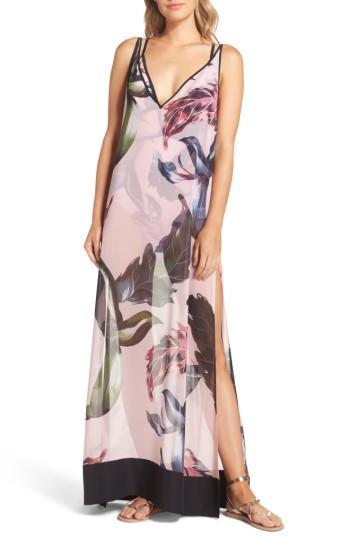 Women's Ted Baker London Edela Eden Print Cover-up Maxi Dress - Pink