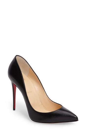 Women's Christian Louboutin Pigalle Follies Pointy Toe Pump Us / 36eu - Black