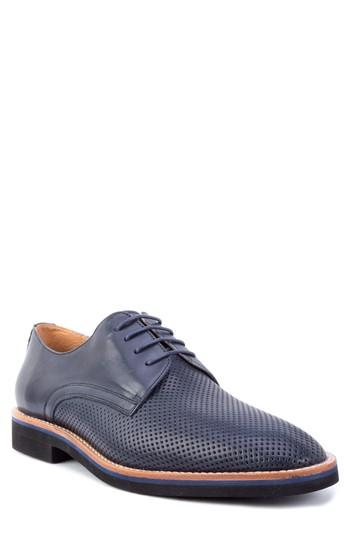 Men's Zanzara Hartung Perforated Plain Toe Derby M - Blue