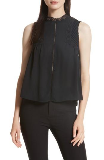 Women's Rebecca Minkoff Anne Top, Size - Black