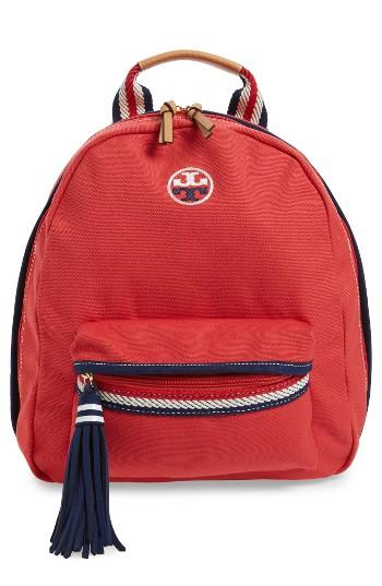 Tory Burch Preppy Canvas Backpack -