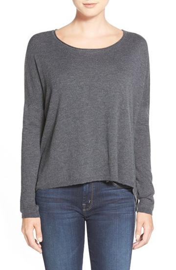 Women's Splendid Scoop Neck High/low Sweater