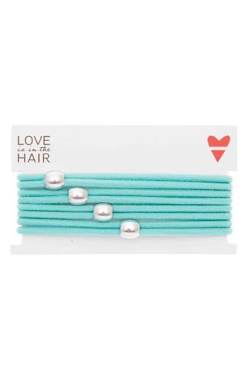 Love Is In The Hair Racer 4-pack Hair Ties, Size - Blue