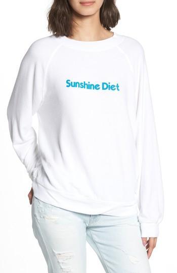Women's Wildfox Sunshine Diet Sommers Sweatshirt - White