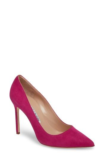 Women's Manolo Blahnik 'bb' Pointy Toe Pump .5us / 35.5eu - Pink