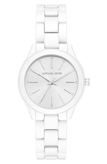 Women's Michael Kors Mini Slim Runway Bracelet Watch, 34mm