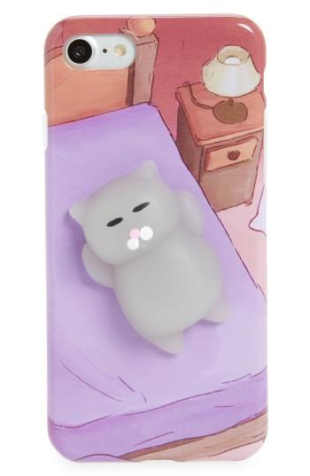 La Double 7 Squishy 3d Cat Iphone 7 Case - Purple
