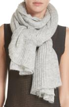 Women's Rag & Bone Donna Rib Knit Scarf, Size - Grey