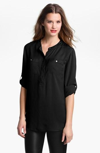 Dknyc Roll Sleeve Blouse