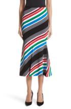 Women's Oscar De La Renta Compact Knit Stripe Skirt - None