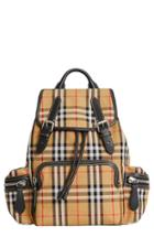 Burberry Medium Rucksack Check Cotton Backpack -