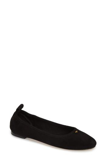Women's Tory Burch Therese Ballet Flat .5 M - Black