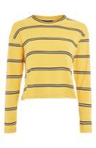 Women's Topshop Stripe Tee Us (fits Like 0) - Yellow