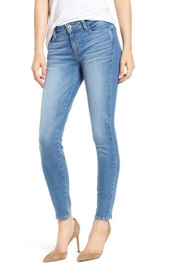 Petite Women's Paige Transcend Vintage - Verdugo Ultra Skinny Jeans - Blue