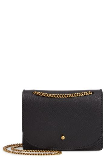 Women's Madewell Leather Crossbody Wallet - Black