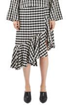 Women's Topshop Boutique Gingham Ruffle Skirt