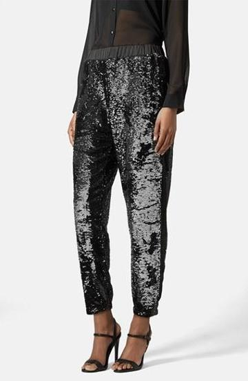 Women's Topshop Two Tone Sequin Jogger Pants