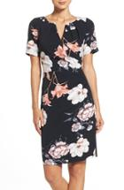 Women's Adrianna Papell Pleated Floral Sheath Dress