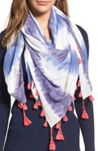 Women's Rebecca Minkoff Tie Dye Square Scarf, Size - Blue