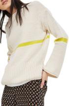 Women's Topshop Stripe Yarn Sweater Us (fits Like 0) - Ivory