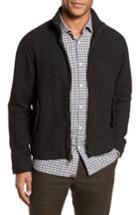 Men's Billy Reid Neil Wool Blend Zip Front Jacket - Black