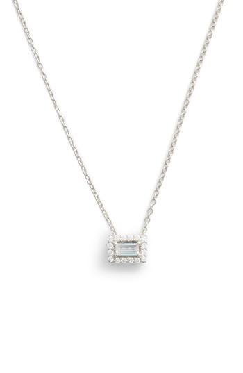 Women's Lafonn Baguette Halo Necklace