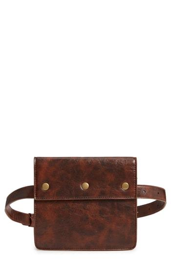 Muche Et Muchette Devon Faux Leather Belt Bag - Brown