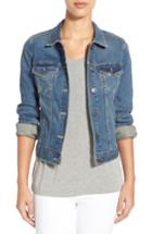 Petite Women's Two By Vince Camuto Jean Jacket P - Blue
