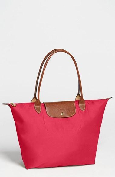 Longchamp 'large Le Pliage' Tote - Red