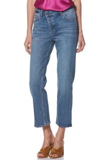 Women's Paige Noella Asymmetrical High Waist Crop Jeans