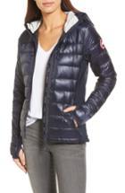 Women's Canada Goose 'hybridge Lite' Slim Fit Hooded Packable Down Jacket (6-8) - Blue (online Only)