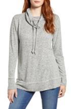 Women's Caslon Cowl Hood Pullover - Grey