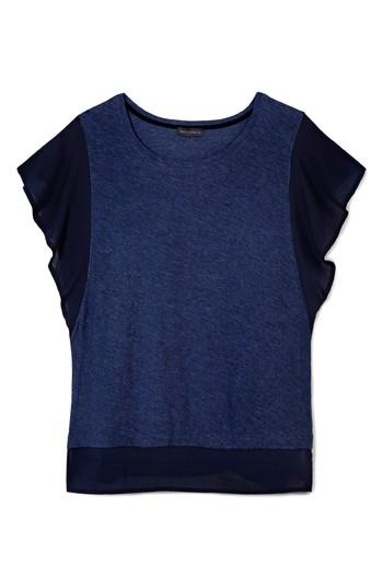 Women's Vince Camuto Ruffle Sleeve Top, Size - Blue