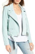 Women's Blanknyc Morning Suede Moto Jacket - Green