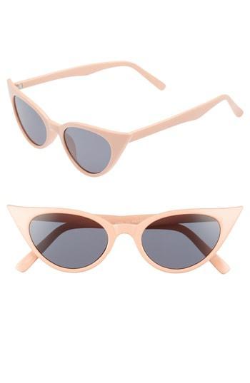 Women's Bp. 50mm Cat Eye Sunglasses - Peach