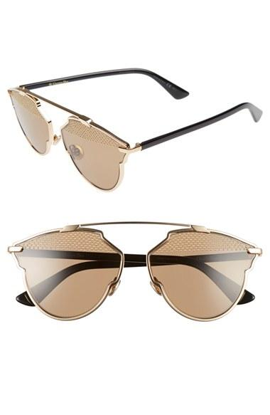 Women's Christian Dior 'so Real' Studded 59mm Sunglasses -