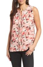 Women's Chaus Whimsical Tropics Pintuck Top - Pink