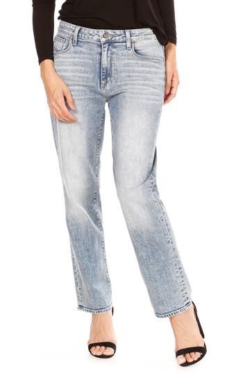 Women's Paige Noella High Waist Straight Leg Jeans - Blue