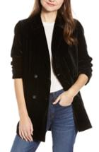 Women's Madewell Caldwell Velvet Double Breasted Blazer