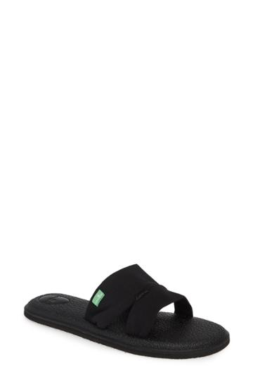 Women's Sanuk Yoga Mat Capri Slide Sandal M - Black