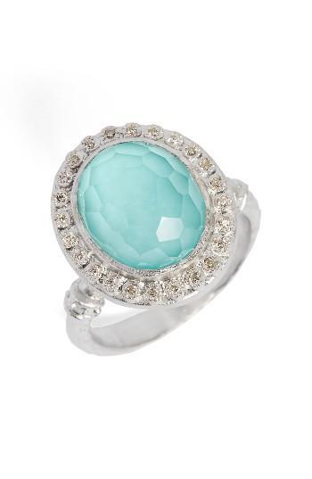 Women's Armenta New World Diamond & Turquoise Ring