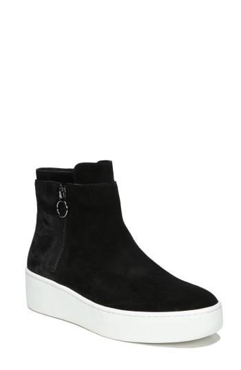 Women's Via Spiga Easton High Top Sneaker M - Black