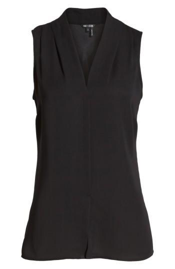 Petite Women's Nic+zoe Day To Night Top, Size P - Black
