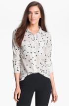 Women's Equipment 'starry Night' Silk Shirt - Black