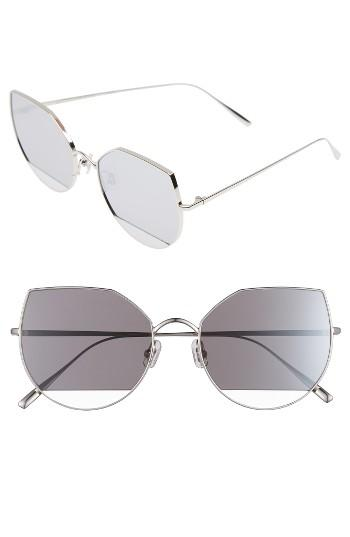 Women's Gentle Monster Song Of Style 57mm Butterfly Sunglasses - Silver/ Mirror