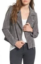 Women's Blanknyc Suede Moto Jacket - Grey