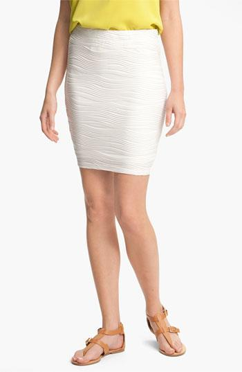 Lily White Textured Bandage Skirt (juniors) Ivory Large