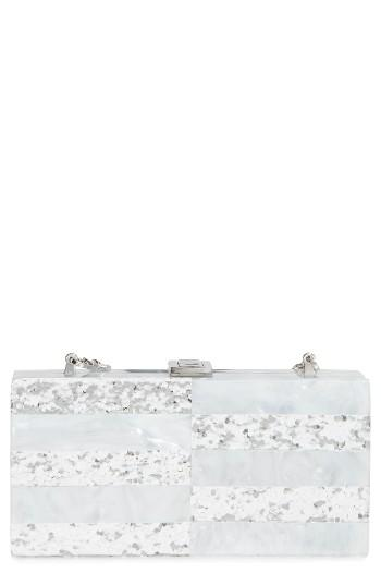 Milly Acrylic & Glitter Box Clutch -
